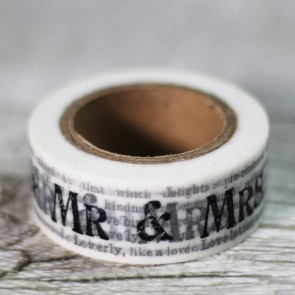 Washi tape Mr and Mrs con fondo