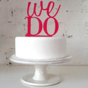 ¡Sí queremos! Figura para pastel de boda We do!