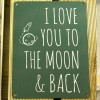 Colgante de metal I love you to the moon and back