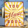 Placa de metal You are music to my soul