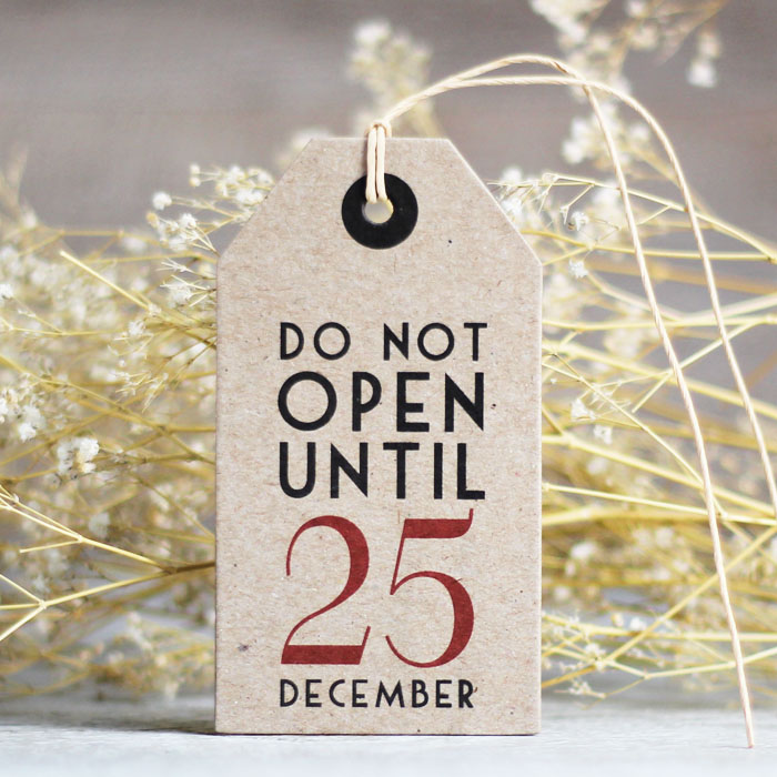 El día de la boda etiquetas-do-not-open-until-25-december
