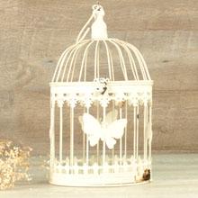 Jaula para decoración mariposas redonda