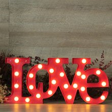 Letras Love luminosas