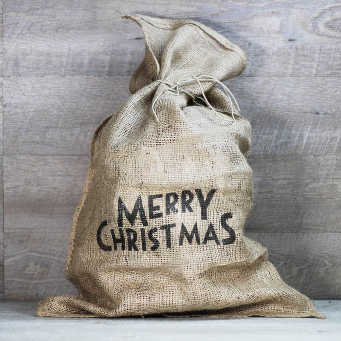 Ideas originales para bodas saco-de-yute-merry-christmas