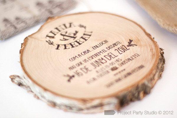 Parte De Matrimonio Rustico : Invitaciones de boda originales tienda on line una